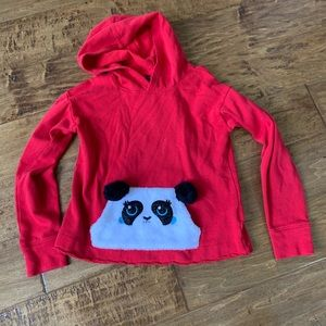 Justice Girls Red Panda Hoodie Top Size 8